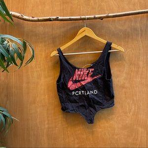 Nike reworked corset bustier crop top